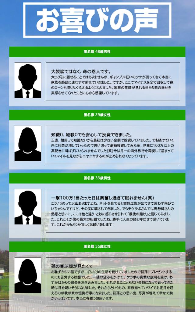 チケラボの会員メッセージ画像