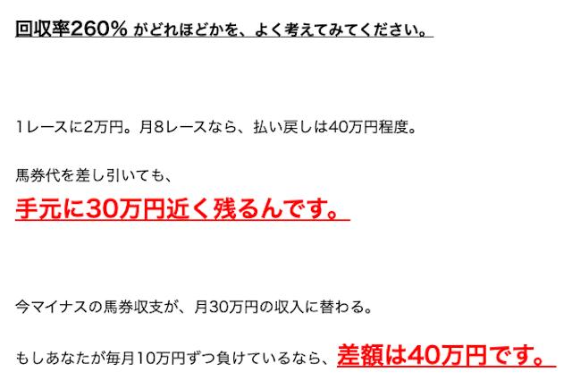 トヨタの買い目 回収率260%について