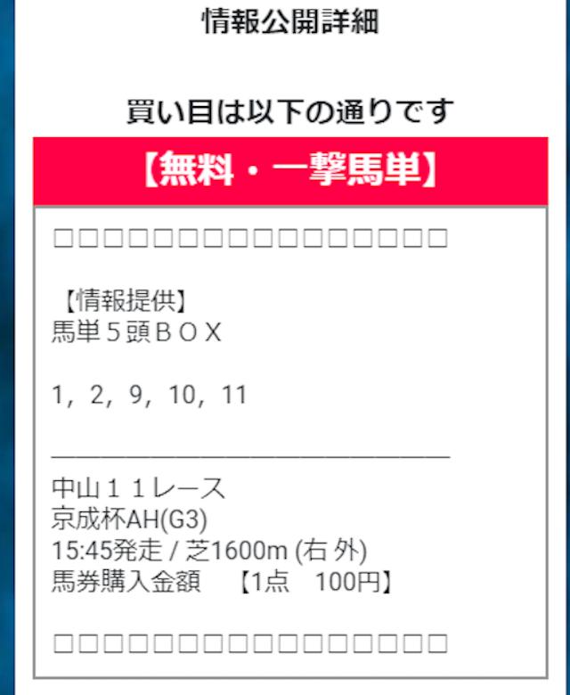 勝鞍 9月12日 買い目